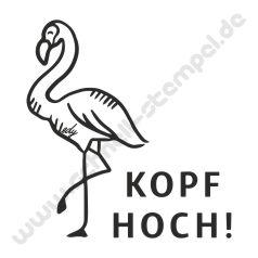 Trodat Edy Motiv Flamingo Kopf Hoch