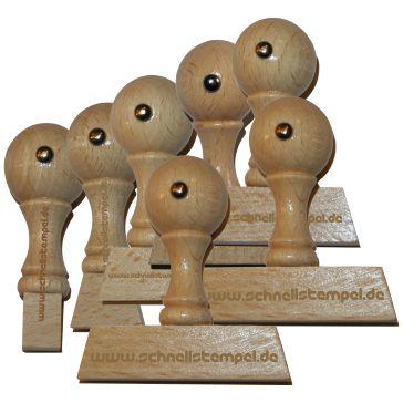 Holzstempel von 8 mm Länge bis 75 mm Breite