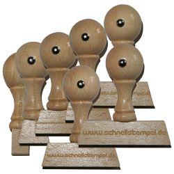 Holzstempel von 10 mm Länge bis 60 mm Breite