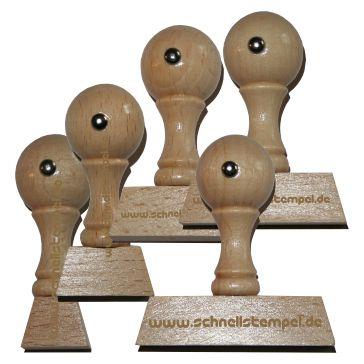 Holzstempel von 12 mm Länge bis 60 mm Breite