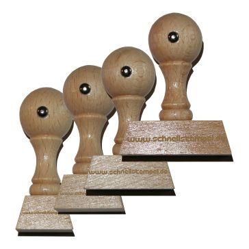 Holzstempel von 18 mm Länge bis 50 mm Breite