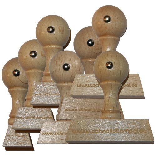 Holzstempel von 20 mm Länge bis 100 mm Breite
