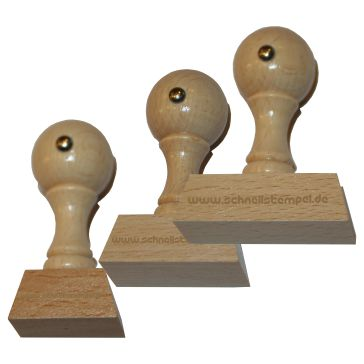 Holzstempel von 22 mm Länge bis 50 mm Breite
