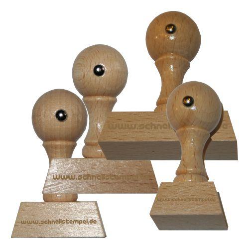 Holzstempel von 25 mm Länge bis 70 mm Breite