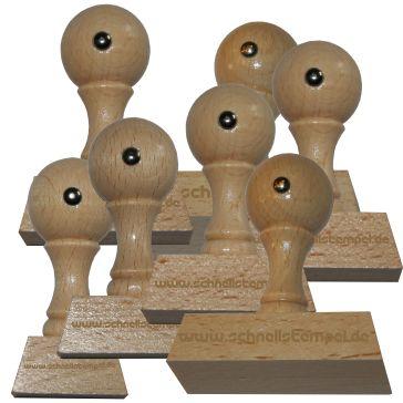 Holzstempel von 30 mm Länge bis 70 mm Breite