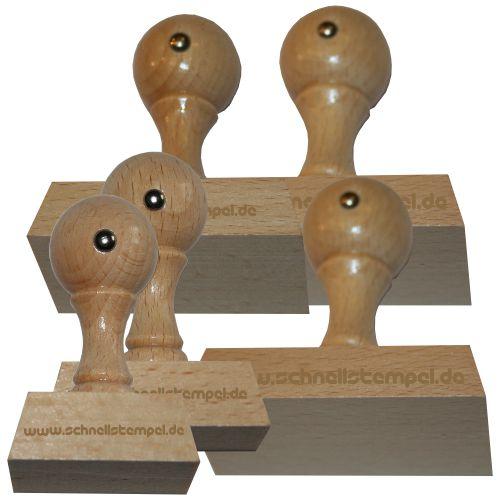 Holzstempel von 40 mm Länge bis 80 mm Breite