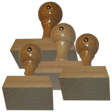 Holzstempel von 45 mm Länge bis 70 mm Breite