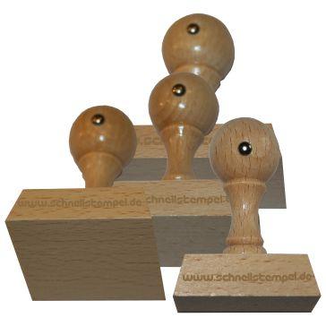 Holzstempel von 50 mm Länge bis 80 mm Breite