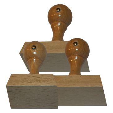 Holzstempel von 55 mm Länge bis 80 mm Breite