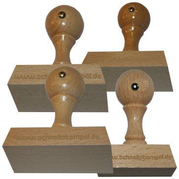 Holzstempel von 60 mm Länge bis 100 mm Breite