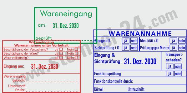 Kontrollstempel für Paletten und Ware