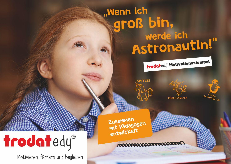 Motivationsstempel Edy von Trodat.  Stempel zum fördern begleiten und Motivieren unserer Schüler, mit Pädagogen entwickelt.