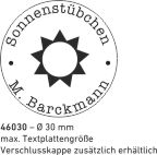 Stempelplatte Trodat Printy 46030 Textstempel Rund Abdruckgroesse max. 30 mm