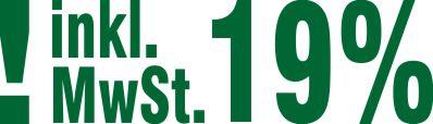 Stempel Inklusive 19% Mehrwertsteuer Farbe Grün