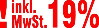 Stempel Inklusive 19% Mehrwertsteuer Farbe Rot