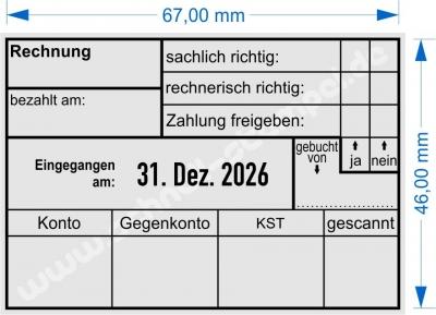 5480 Trodat Professional  Rechnung Zahlung gebucht Konto Gegenkonto Kostenstelle gescannt