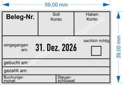 5474 Trodat Professional Buchungsstempel Beleg-Nr. Soll-Konto Haben-Konto