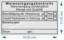 5206 Stempel Wareneingangskontrolle Bemerkung von Trodat