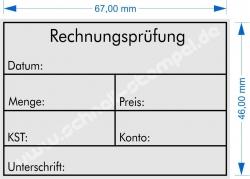 5208 Trodat Stempel Professional Rechnungsprüfung Datum Menge Preis KST Konto Unterschrift