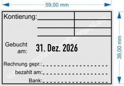 5474 Trodat Professional Kontierung Gebucht Rechnung geprüft