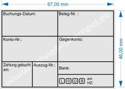 5208 Trodat Stempel Professional Buchungsstempel Buchungsdatum Belegnummer Kontonummer