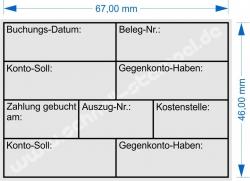 5208 Trodat Stempel Professional Buchung Datum Gegenkonto Kostenstelle