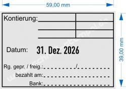 5474 Trodat Professional Rechnung Datum Rechnung geprüft