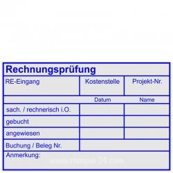 5211 Trodat Stempel Professional Rechnungsprüfung Kostenstelle Projektnummer