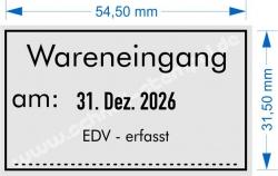 5460 Trodat Wareneingangsstempel EDV erfasst