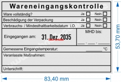 54110 Trodat Wareneigangskontrolle MHD Unterschrift