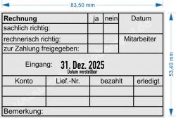 54110 Trodat Professional Rechnung zur Zahlung freigegeben Datum