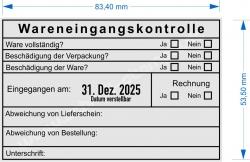 54110 Trodat Wareneingangskontrolle Abweichungen