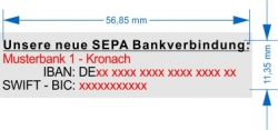 4913 Trodat Printy SEPA Stempel für 1. Bankverbindung