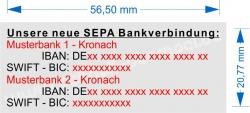 4913 Trodat Printy SEPA Stempel für 2. Bankverbindungen