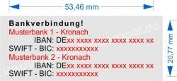 4913 Trodat Printy 2. Bankverbindung