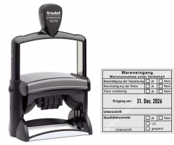 54110 Trodat Professional Wareneingangsstempel Warenannahme unter Vorbehalt Qualitätskontrolle