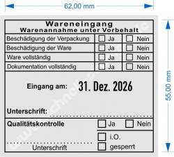 54110 Trodat Warenannahme unter Vorbehalt Dokumentation