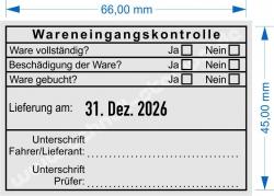 5480 Trodat Wareneingangskontrolle Unterschrift Fahrer Lieferant Prüfer