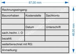 5208 Trodat Stempel Rechnungsprüfung Bauvorhaben Kostenstelle Sachkonto