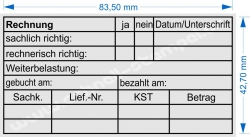 5211 Trodat Stempel Rechnung Weiterbelastung gebucht