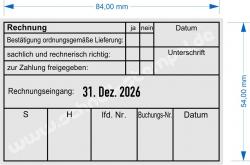 54110 Trodat Rechnungsstempel ordnungsgemäße Lieferung