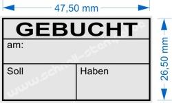 4929 Trodat Printy Gebucht am Soll Haben