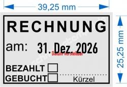 5440 Trodat Professional Rechnung Bezahlt Gebucht