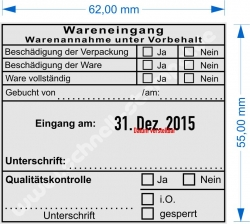 54110 Trodat Wareneingang Warenannahme Warenannahme unter Vorbehalt gebucht von