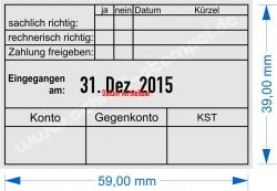 5474 Trodat Rechnung Zahlung gebucht KST