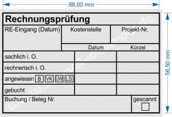 Holzstempel 60x90 Rechnungsprüfung angewiesen Bankart 2