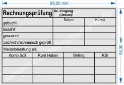 Holzstempel 60x90 Rechnungsprüfung Kostenstelle Datum