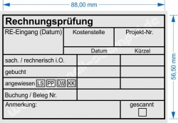Holzstempel 60x90 Rechnungsprüfung angewiesen Bankart