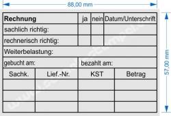 Holzstempel 60x90 Rechnung Weiterbelastung
