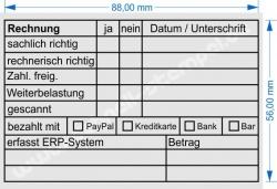 Holzstempel 60x90 RG-Stempel Bezahlt PayPal Kreditkarte Bank Bar